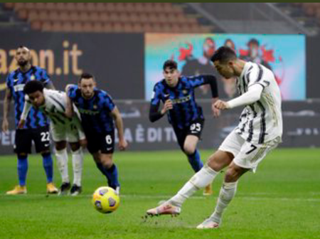 Ronaldo's brace gives Juventus 1st-leg edge ahead Inter Milan for coppa Italia semi-final