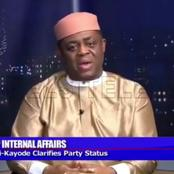 When asked if he has dumped PDP for APC, see the response of FFK in an interview on Channels TV