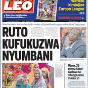 Today Newspapers: 'Ruto Kufukuzwa Nyumbani', Covid-19 Vaccine Next Week, Uhuru's Coalition of Chaos