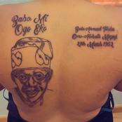 Mixed Reactions As Lady Inks Tattoo Bola Ahmed Tinubu On Her Back