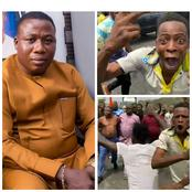 Reactions As Security Operatives Failed In An Attempt To Arrest Sunday Igboho (Video)