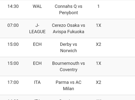 Today's Games Sure Bets