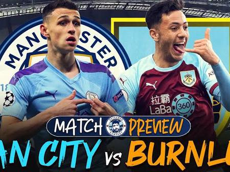 OPINION: 2 Reasons Why Manchester City Should Be Expecting Defeat From The Burnley Side On Saturday.