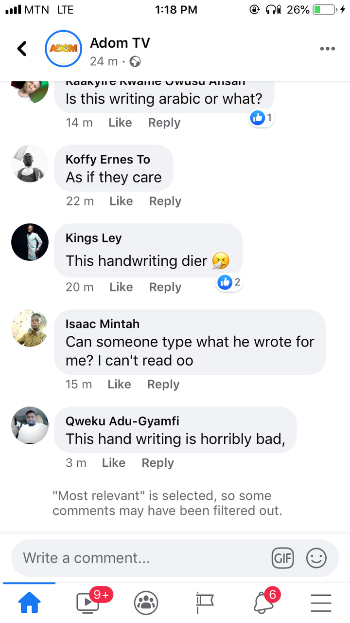 "e6e1c026fa156df6151f8a2d5875d560?quality=uhq&resize=720 - This Handwriting Is Horribly Bad"" - Ghanaians React To What Nana Addo Wrote On Rawlings' Book Of Condolence"