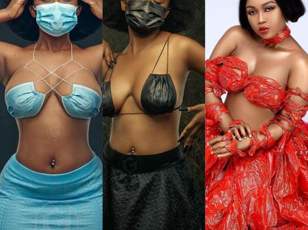 Recent Lovely Photos of Dede Dezel, The Creative Model Who Dressed in Clothes Made With Nose Masks