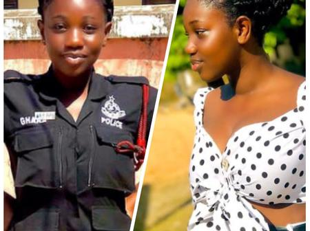 Beauty in Police force: Ghanaian Policewoman is showing her true colours as a slay queen (PHOTOS)