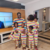 Actress Mercy Johnson, Her Husband & Children Rock The Same Attire. See Photos