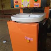Another stunning innovation from Jos; a computerized hand washing device hits Nigerian markets