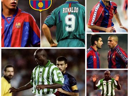 Throwback Photos Of Guardiola, Finidi George And Ronaldo De Lima As Players In La Liga