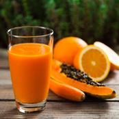 How To Prepare PawPaw And Orange Smoothie At Home With 5 Easy Steps