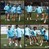 PHOTOS: Real Madrid Stars return to training with smiles on their faces after their win against Barca
