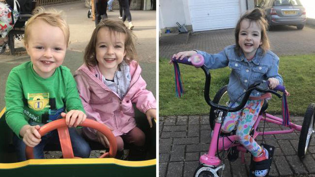 Youngster needs £35k to help her walk just months after sudden loss of her dad