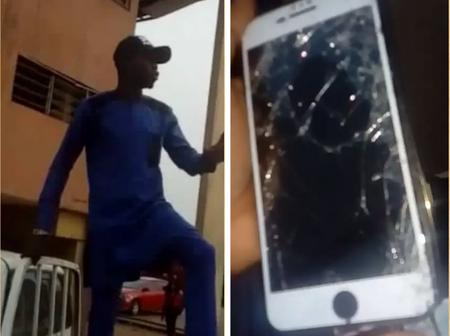 Check Out What UNIBEN students Did After Lecturer Smashed Student's IPhone On The Floor