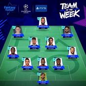 The Official UEFA Champions League Team Of The Week As One Chelsea Player Made The List