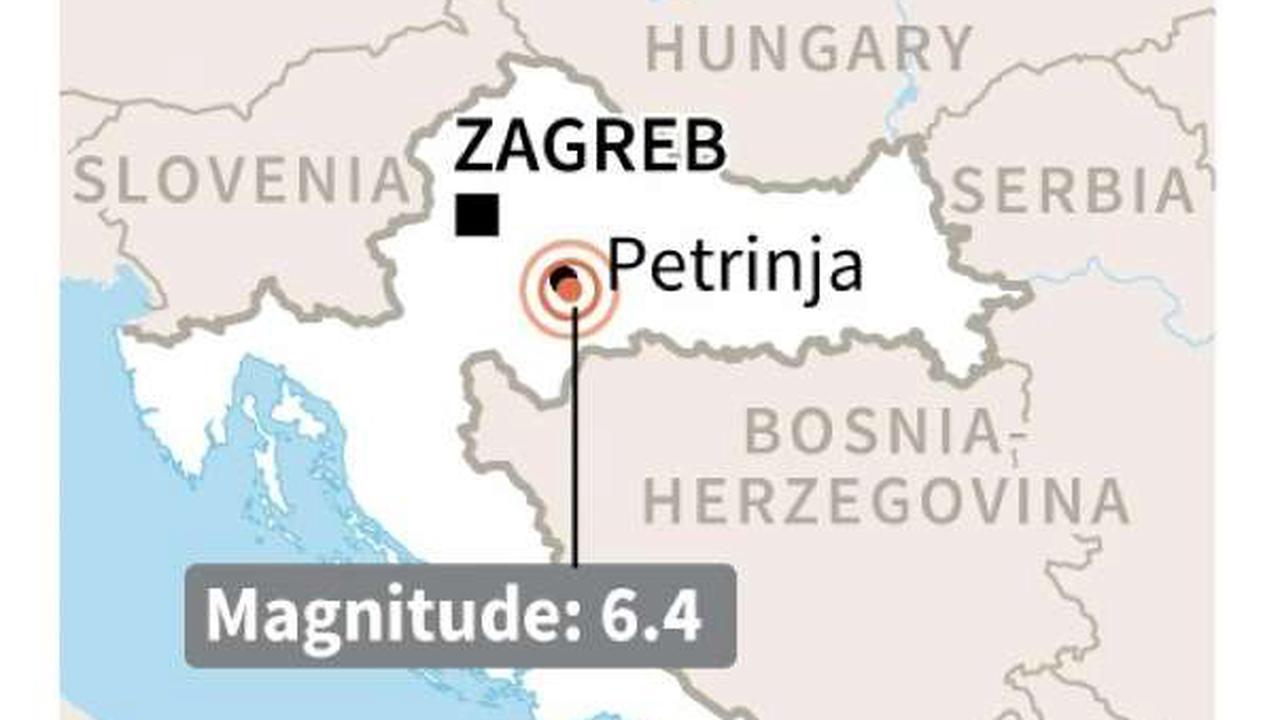 Powerful quake tears down buildings in central Croatia