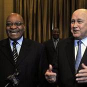 'You Can Run, But You Cannot Hide', De Klerk to Jacob Zuma