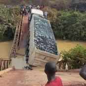 Drama as a Bridge Collapses With Lorry On Top In kisumu
