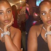 Davido's Alleged Girlfriend Is Very Beautiful, See What She Wore To A Night Party