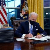 Joe Biden gives first executive order, see how it affects Nigeria