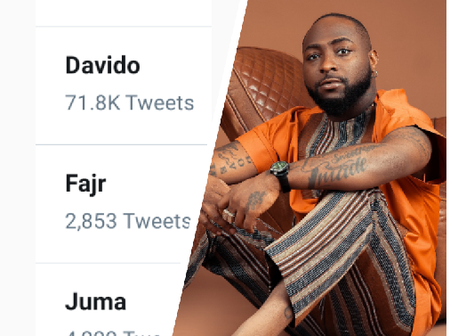 Davido is trending on twitter, see the reason behind his latest trend.