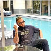 Kcee Arrives Nelson Mandela Square In South African, Check Out Photos From The Swimming Pool Bar