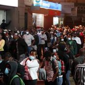 Tough Situation At Moi Avenue Bus Stage In Nairobi As Kenyans Make Long Queues To Get Home.