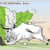 A Cartoon by PUNCH That Shows How Cows Are Causing Disunity In Nigeria Has Got People Talking