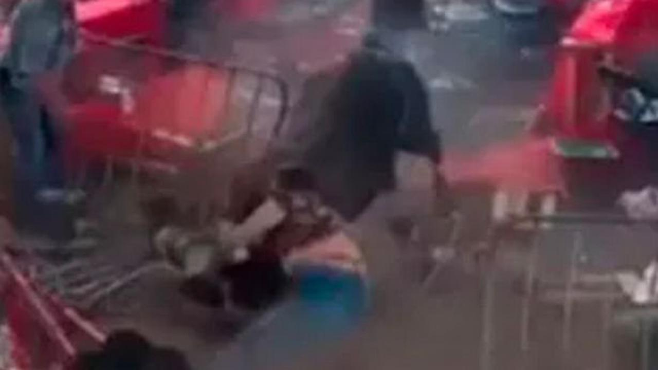 Horrifying moment rampaging bull breaks out of ring and charges at spectators