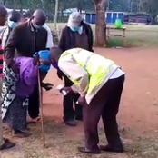 Elderly Grandmother Guided Early In The Morning To Cast Her Vote In Kabuchai By-election