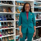 See the woman who owns shoes worth almost R1 million in her house!