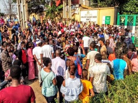 See Photos Of People Who Went For NIN Enrollment This Morning At Ikeja Office
