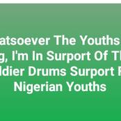 Soldier Drums Surport For Nigerian Youths (Video)