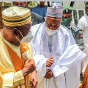 7 Photos: Governor of Kano State, Dr. Ganduje Pays a condolence Visits to Governor Abubakar Badaru.