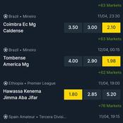 Sunday And Monday Matches Analysis With More Than 100 Odds And Over 3.5