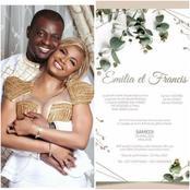 Le couple Coco Emilia et Francis Mvemba, présente leur faire-part : voici la date annoncée
