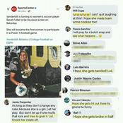 Opinion, see the disgusting comments these men made about a female soccer player.