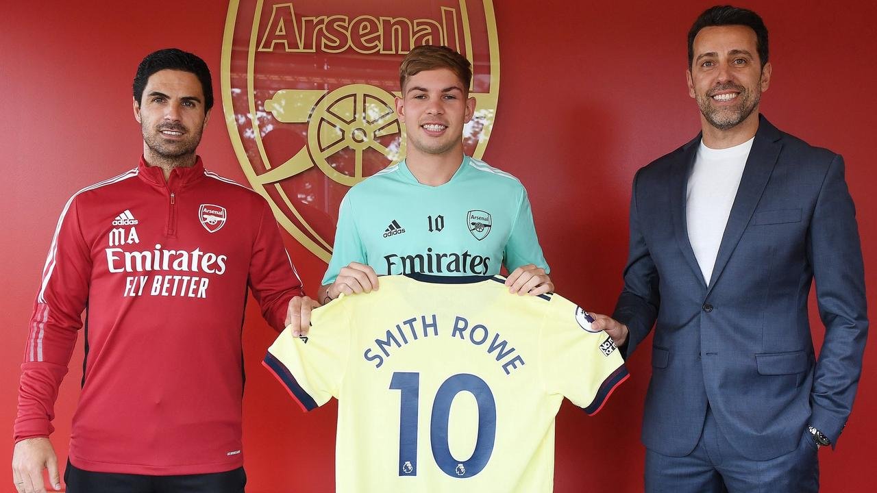 Arsenal boss Arteta explains decision to hand Smith Rowe 'famous' No 10 shirt and praises his 'ambition and desire'
