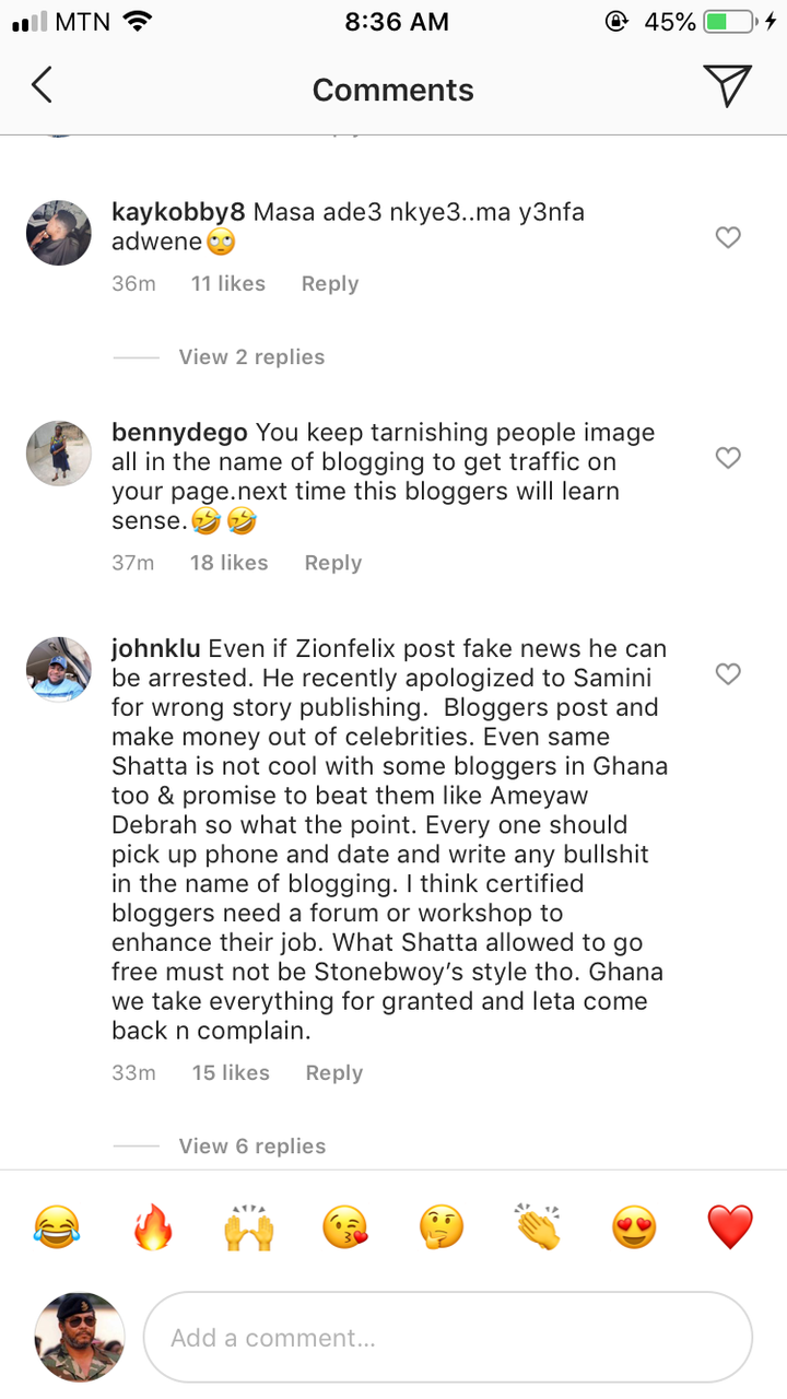 e8c251e9a605169ee9ae76c7372c36ef?quality=uhq&resize=720 - Stonebwoy Is A Hypocrite To Arrest A Blogger Over False News, Shatta Will Never Do That - Angry Fan
