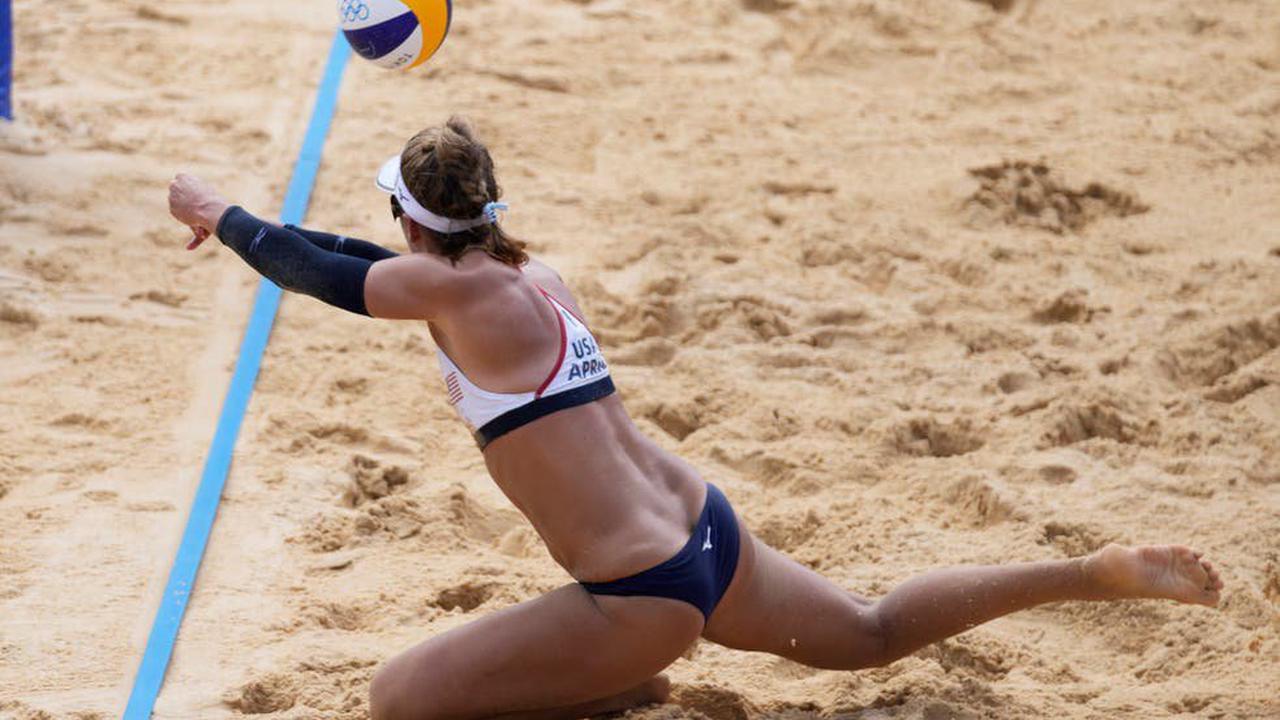 Olympics Latest: US beach volleyball team beats former champ