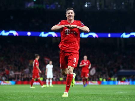 Bayern Munich striker Robert Lewandowski sets new record as he netted thrice against Frankfurt.
