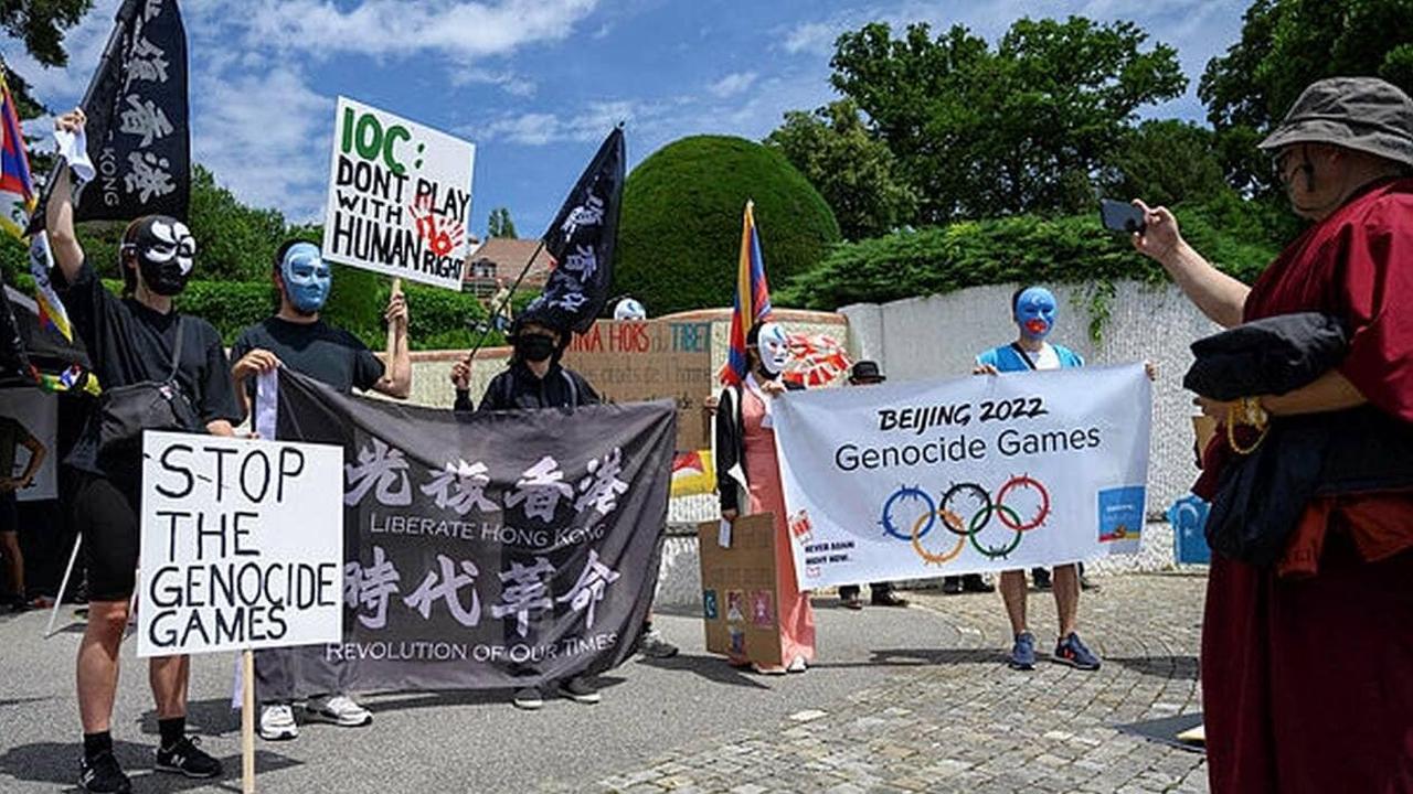 JO Pékin 2022. Des manifestants Ouïghours et Tibétains protestent contre les Jeux d'hiver
