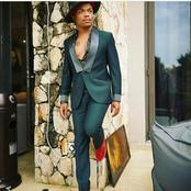 Somizi Mhlongo left fans dumbstruck with his stylish suit looking dazzling.