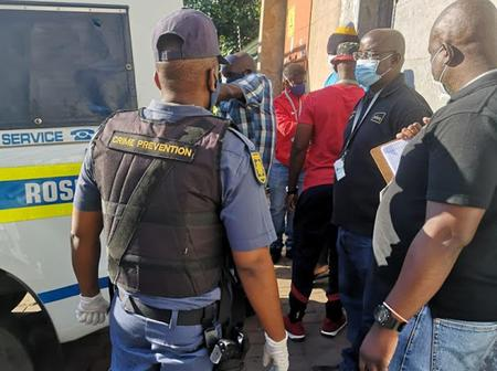 40 Foreign Nationals Were Evicted In Jeppestown After Hijacking A Building.