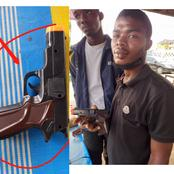 After the arrest of two suspected robbers, see the toy guns they operate with that got reactions.