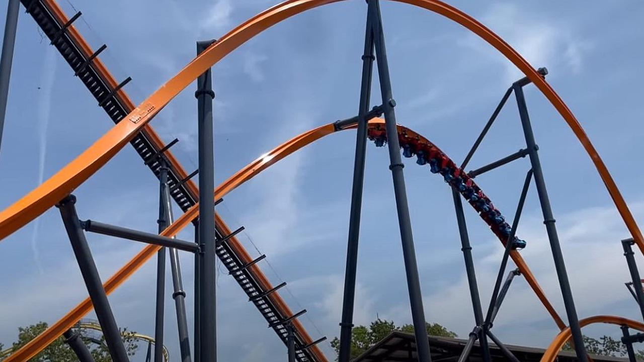 Hands Up Take A Virtual Ride On Six Flags Great Adventure S New Jersey Devil Roller Coaster Video Opera News