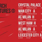 2020-2021: Manchester United's Fixtures In All Competitions In March