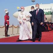 Pope Francis arrives Iraq