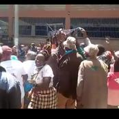 Top Government Official Allegedly Chased By Nyeri Residents For Selling BBI(Video)