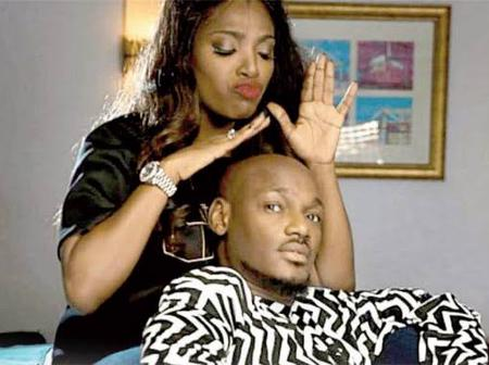 Check Out This Recent Photos On How Annie Idibia Sat With 2Face