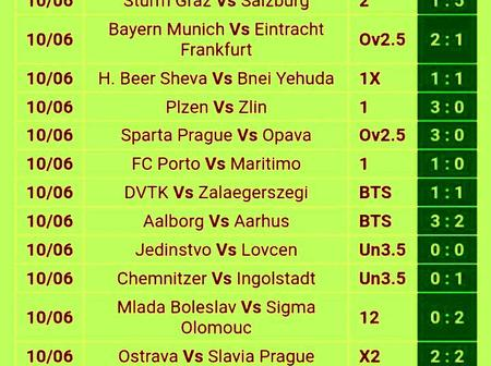 Place on These Seven(7)GG And Correct Score(CS) Matches To Earn Huge Cash